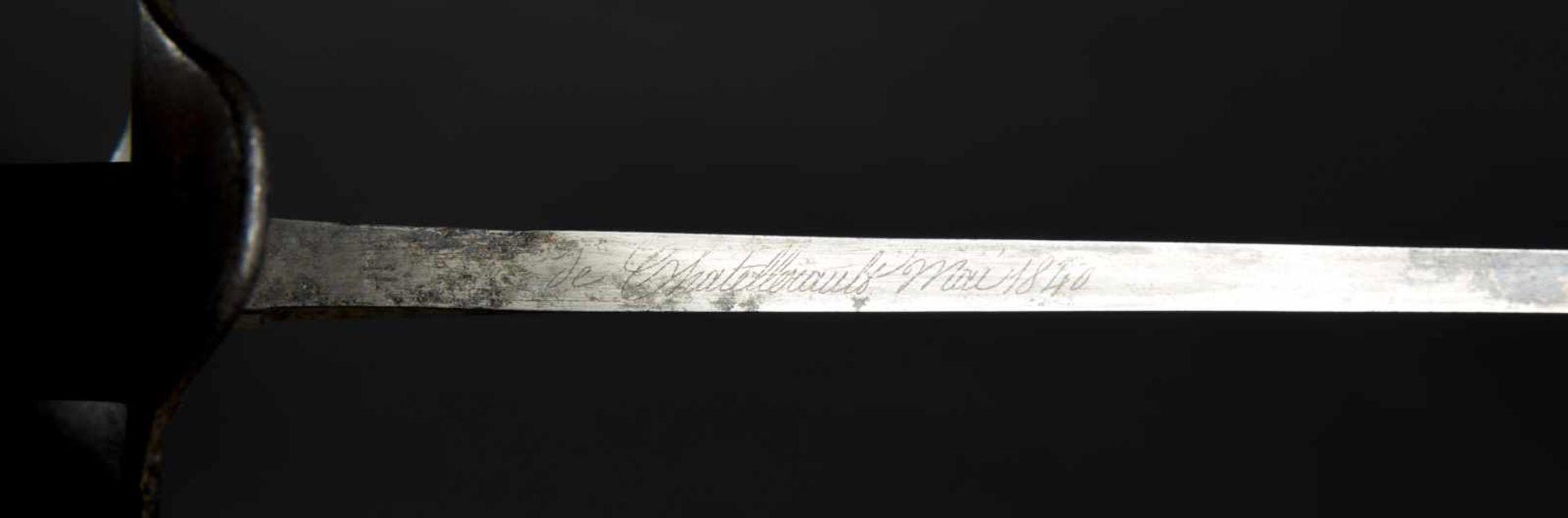 Sabre d'abordage XIXème Tout en métal, fourreau manquant. Fabrication de la Manufacture de - Bild 2 aus 4