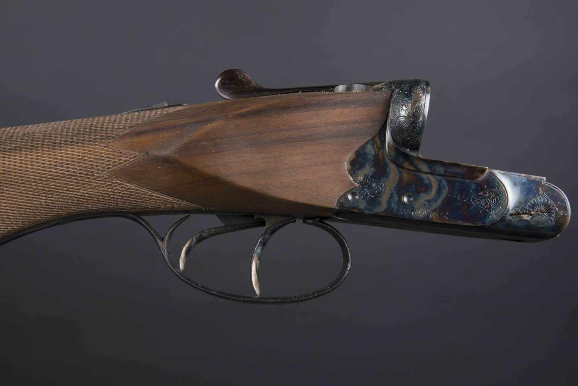 Fusil juxtaposé J Breuil Catégorie C Calibre 12/65, canon raccourci. Numéro 1232. Crosse - Bild 3 aus 3