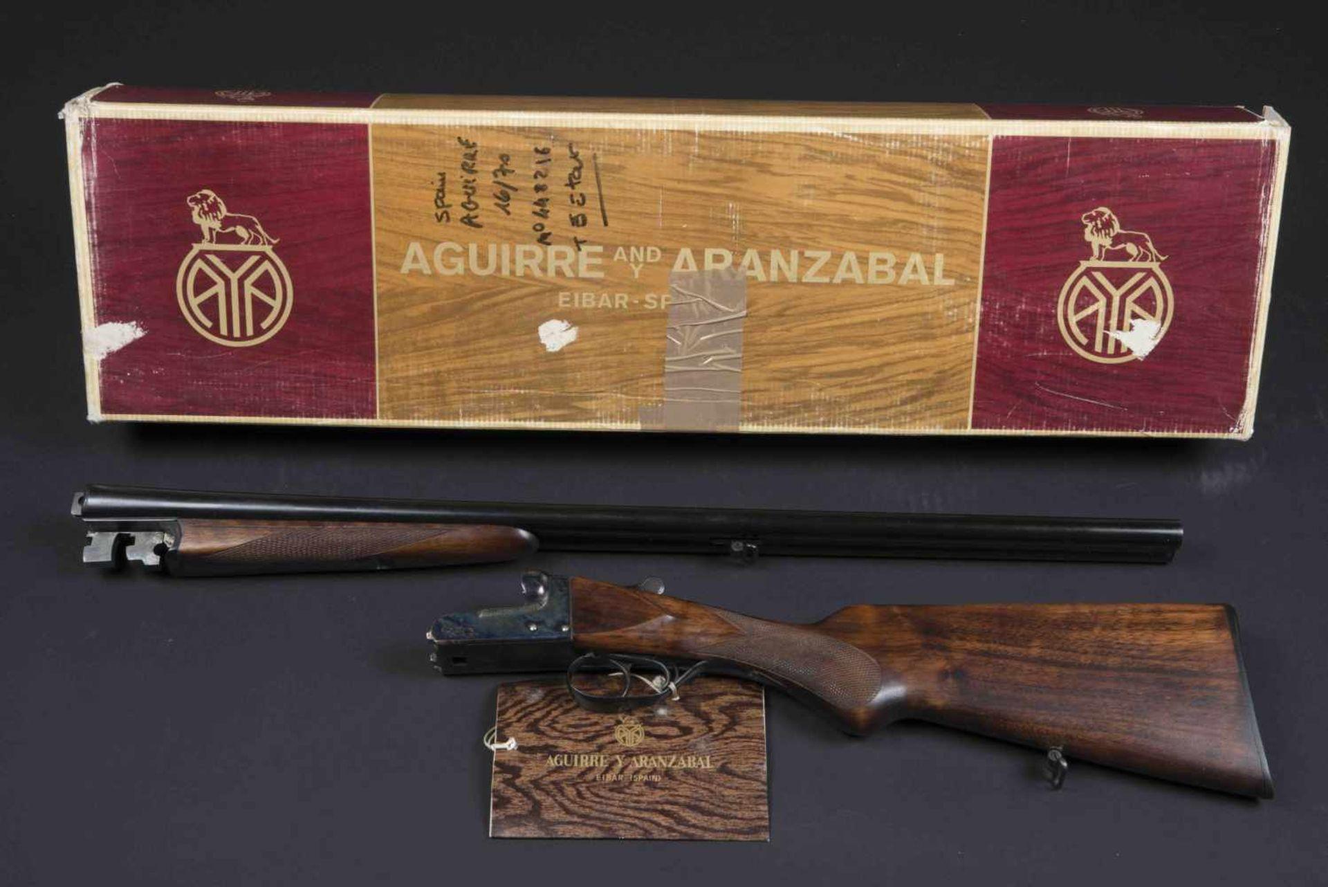 Fusil Spain Aguire Catégorie C Calibre 16/70, numéro 448216, dans sa boite d'origine jamais monté.