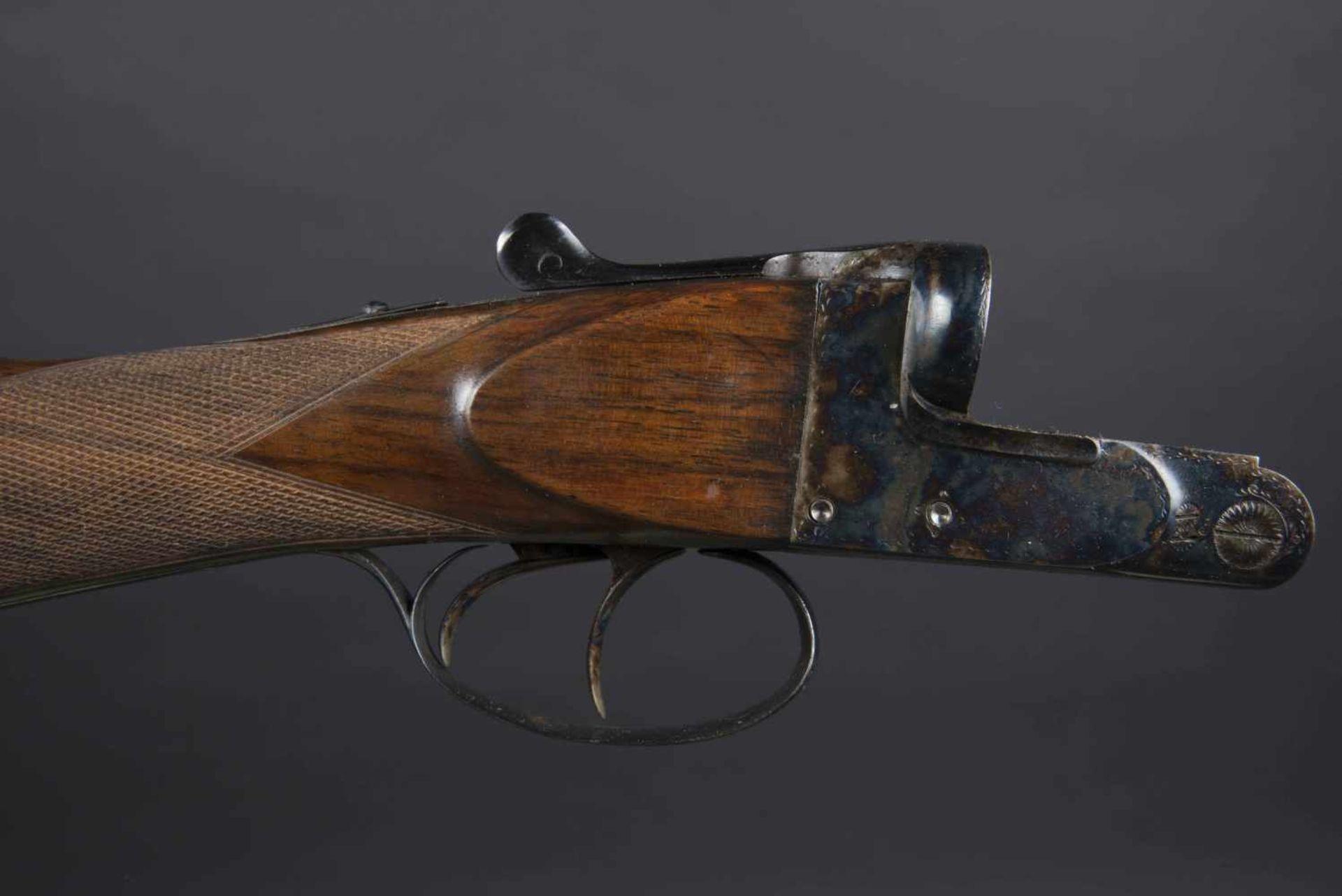 Fusil juxtaposé artisanal Catégorie C Calibre 16/70, numéro 4045, fabrication Poicon Caen, canon - Bild 2 aus 3
