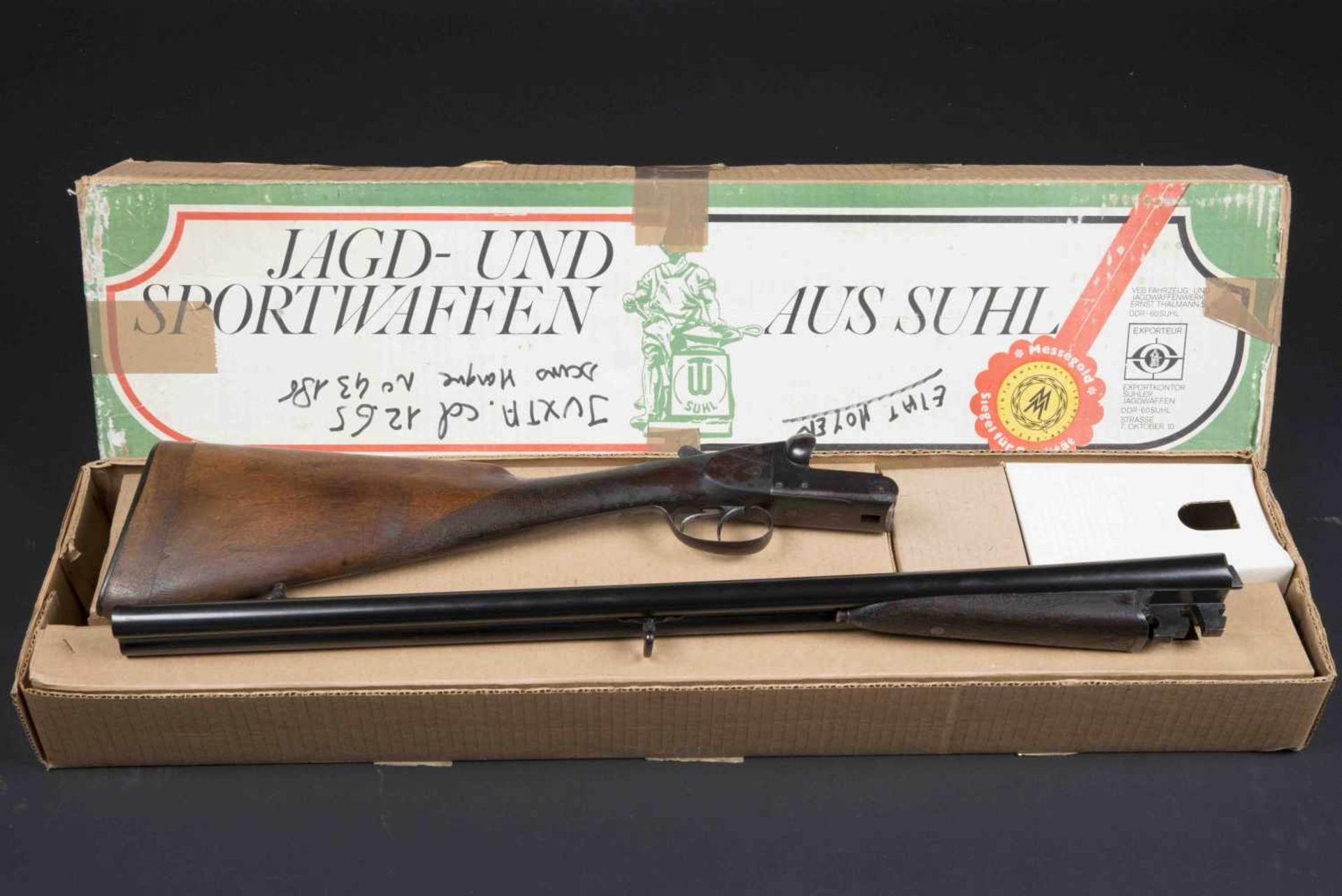 Fusil de chasse juxtaposé Catégorie C Calibre 12/65, numéro 43186. Complet, boite non du modèle de