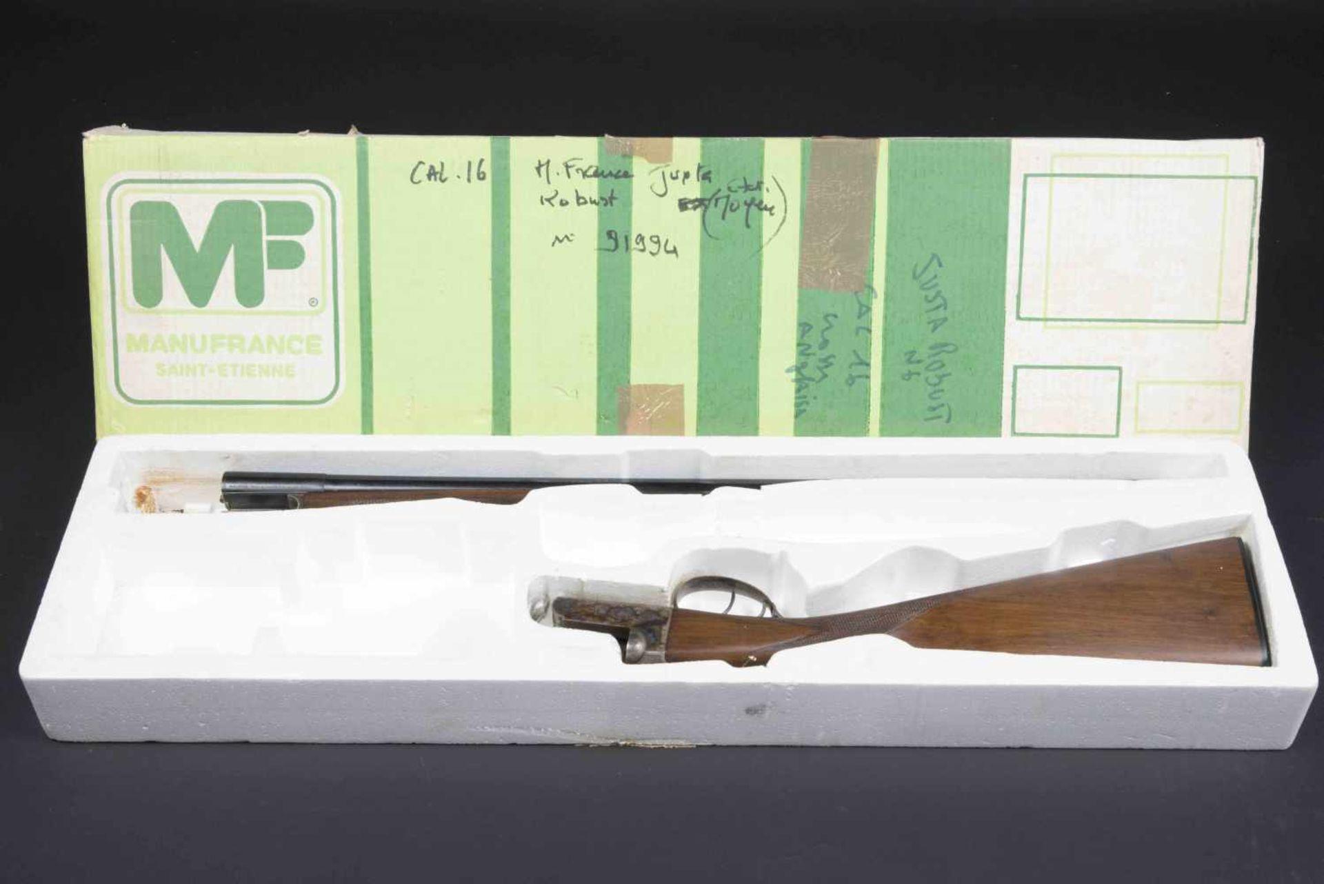 Fusil de chasse juxtaposé Robust Catégorie C Calibre 16, numéro 91994, canon marqué Manufacture