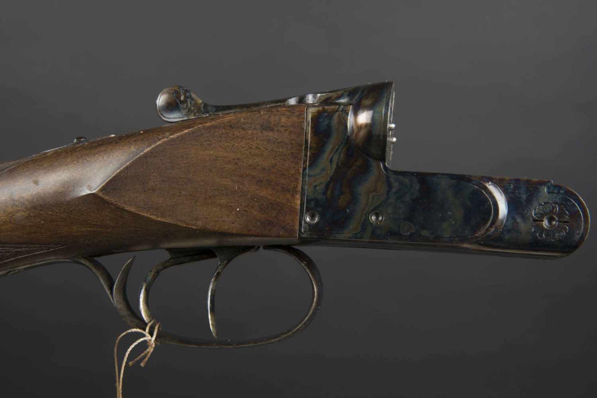 Fusil juxtaposé Paris Sport Catégorie C Calibre 16, numéro 146486. Carton non au modèle de l'arme. - Bild 2 aus 4