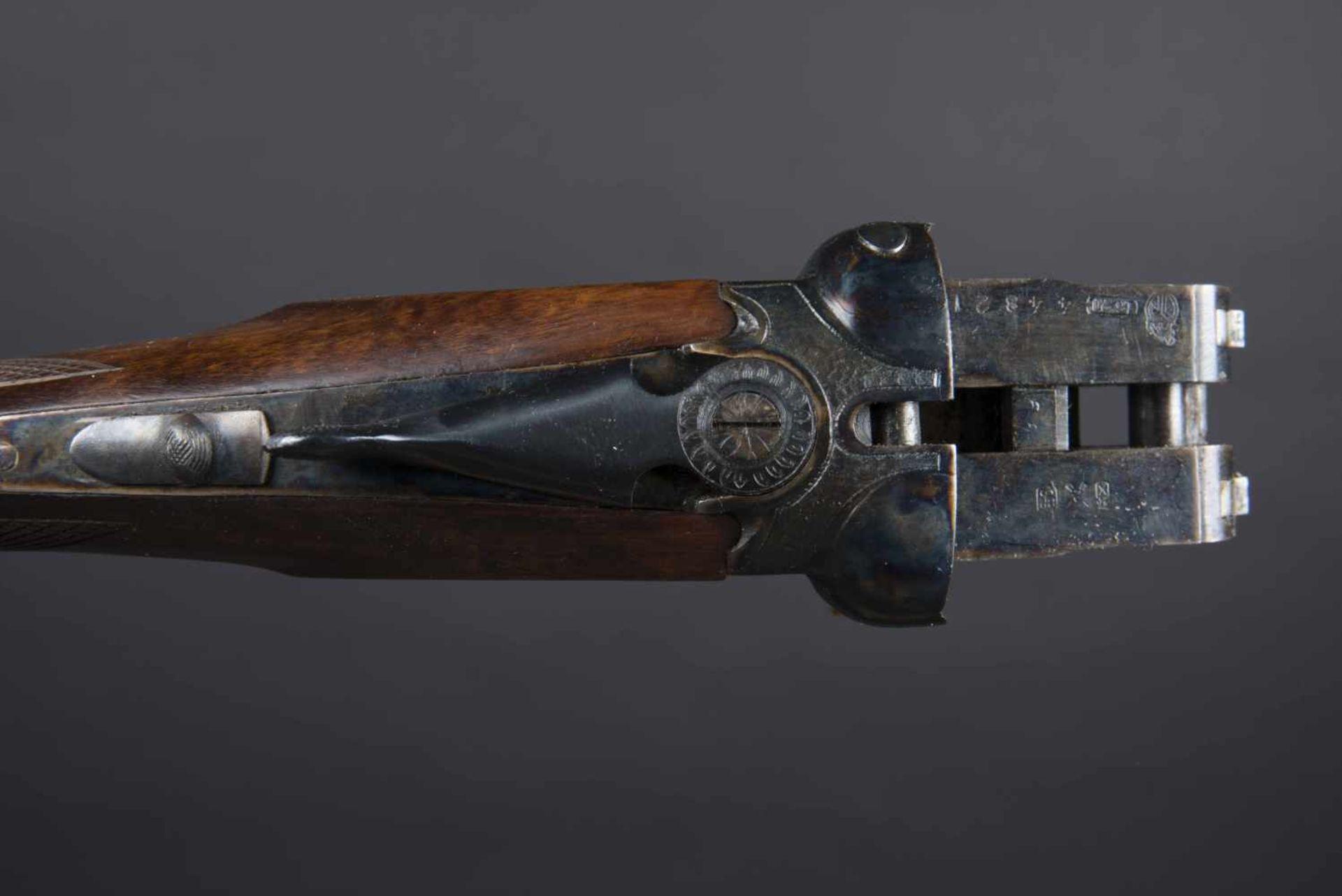 Fusil Spain Aguire Catégorie C Calibre 16/70, numéro 448216, dans sa boite d'origine jamais monté. - Bild 2 aus 2