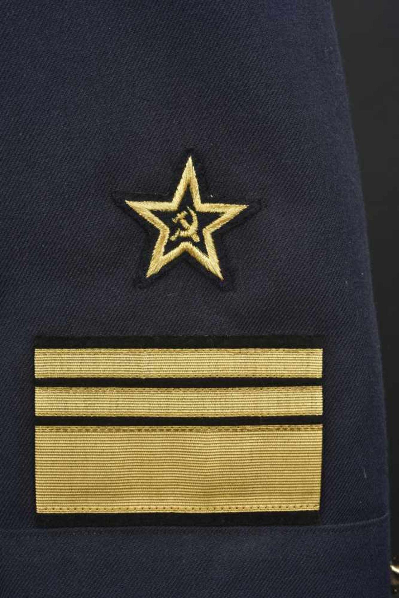 Vareuse de bord de vice-amiral soviétique, année 1990 En tissu bleu, tous les boutons sont présents, - Bild 3 aus 4