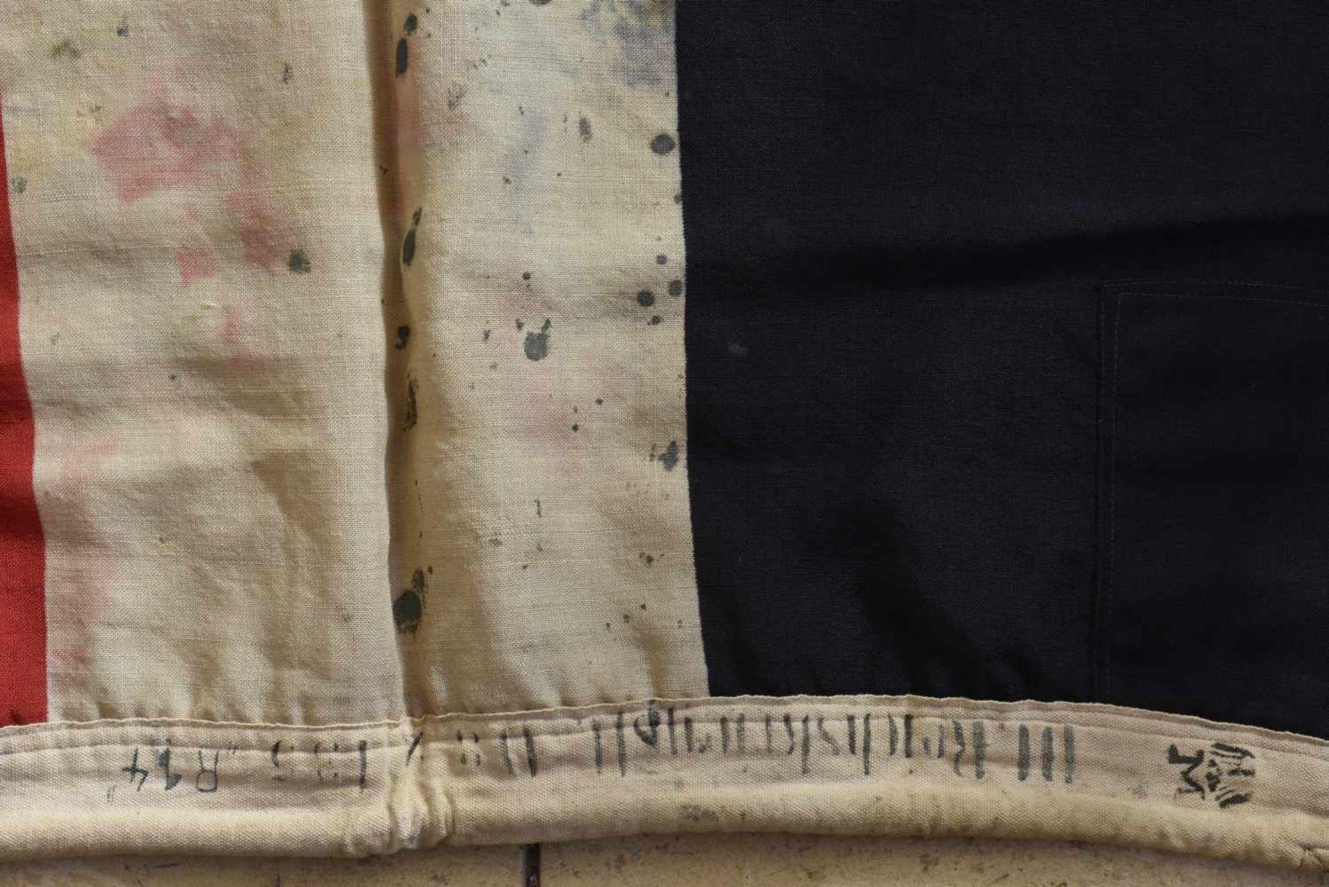 Los 1 - Drapeau allemand de la première guerre mondiale En tissu coton. Croix de fer imprimée en son milieu.