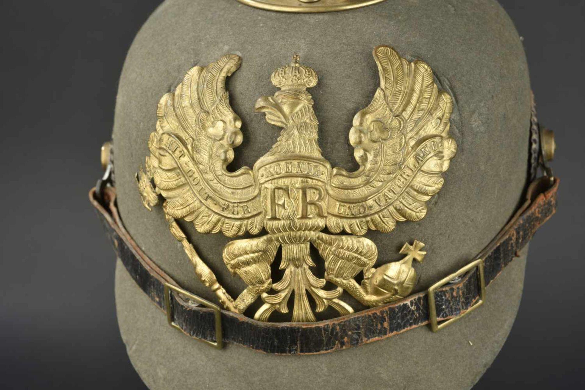 PRUSSE Casque de troupe de l'infanterie modèle ersatz Feutre en bon état général. L'intérieur est en - Bild 4 aus 4