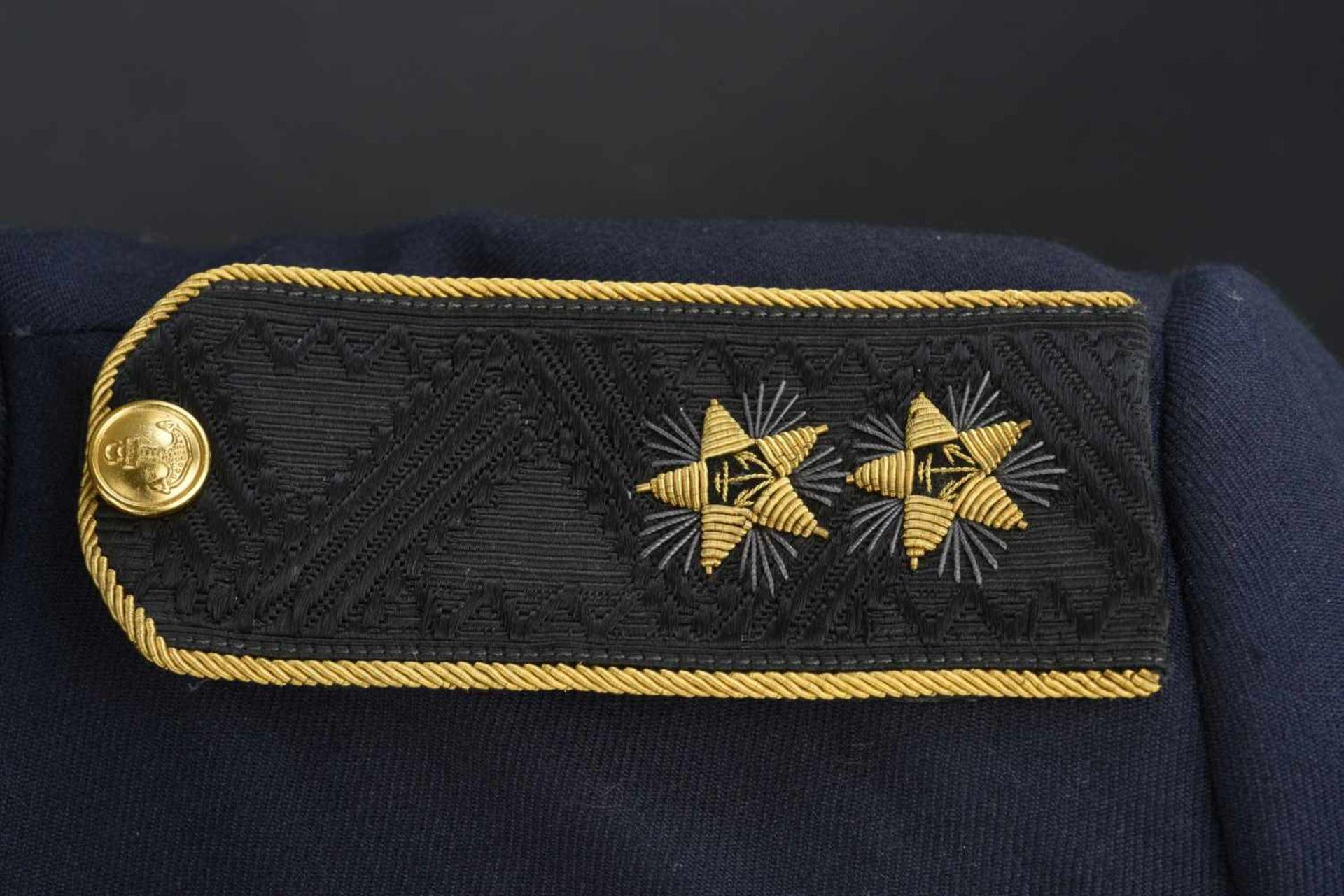 Vareuse de bord de vice-amiral soviétique, année 1990 En tissu bleu, tous les boutons sont présents, - Bild 2 aus 4