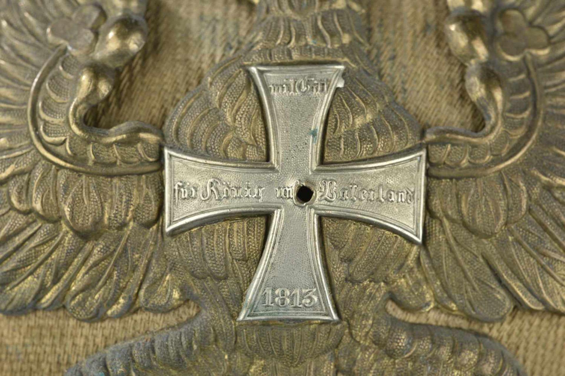 PRUSSE Casque ersatz troupe de l'infanterie Prussienne vraisemblablement issu de la série des essais - Bild 4 aus 4