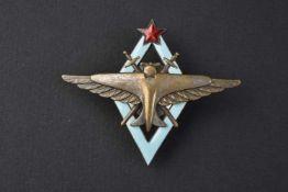 Insigne type 1938, d'excellent pilote de l'aviation version avec avion et aile argenté. Cette