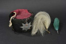 SAXE Colback de Hussard troupe Saxon modèle 1915 Sans coiffe intérieure, attribut'(plumet, bush
