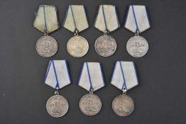 Lot de 7 médailles pour la Bravoure type 2, n° 846043 – 2.289.541 – 2.636.117 - 2.790.655 – 3.562.