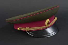 Casquette de service de général d'infanterie soviétique avant 1956 En tissu kaki, bandeau et