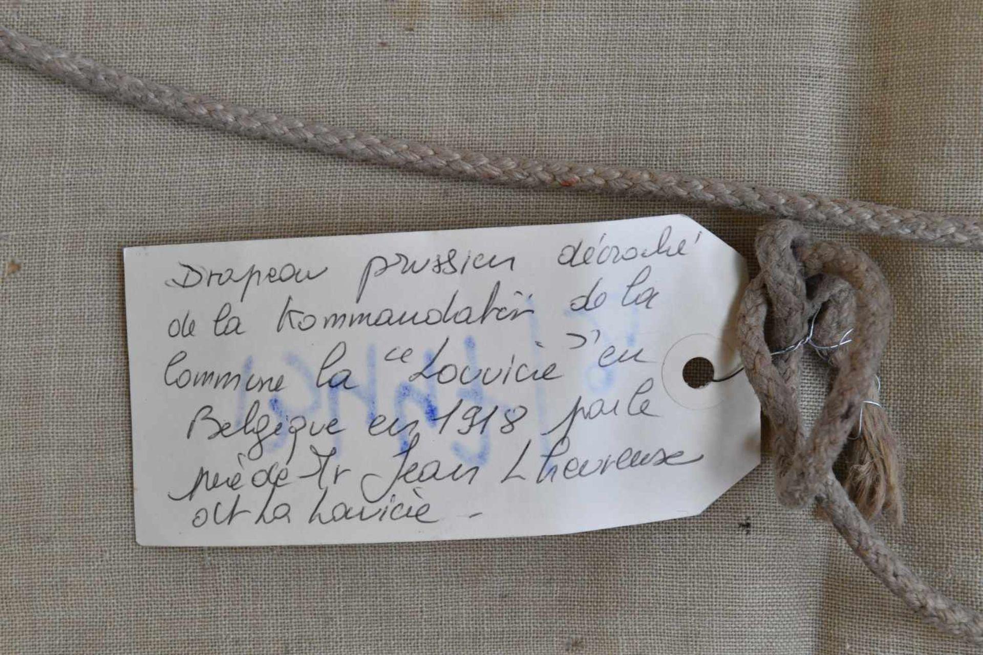 Drapeau de la Kaiserliche Marine provenant de Louvière en Belgique En tissu coton blanc, aigle - Bild 3 aus 4