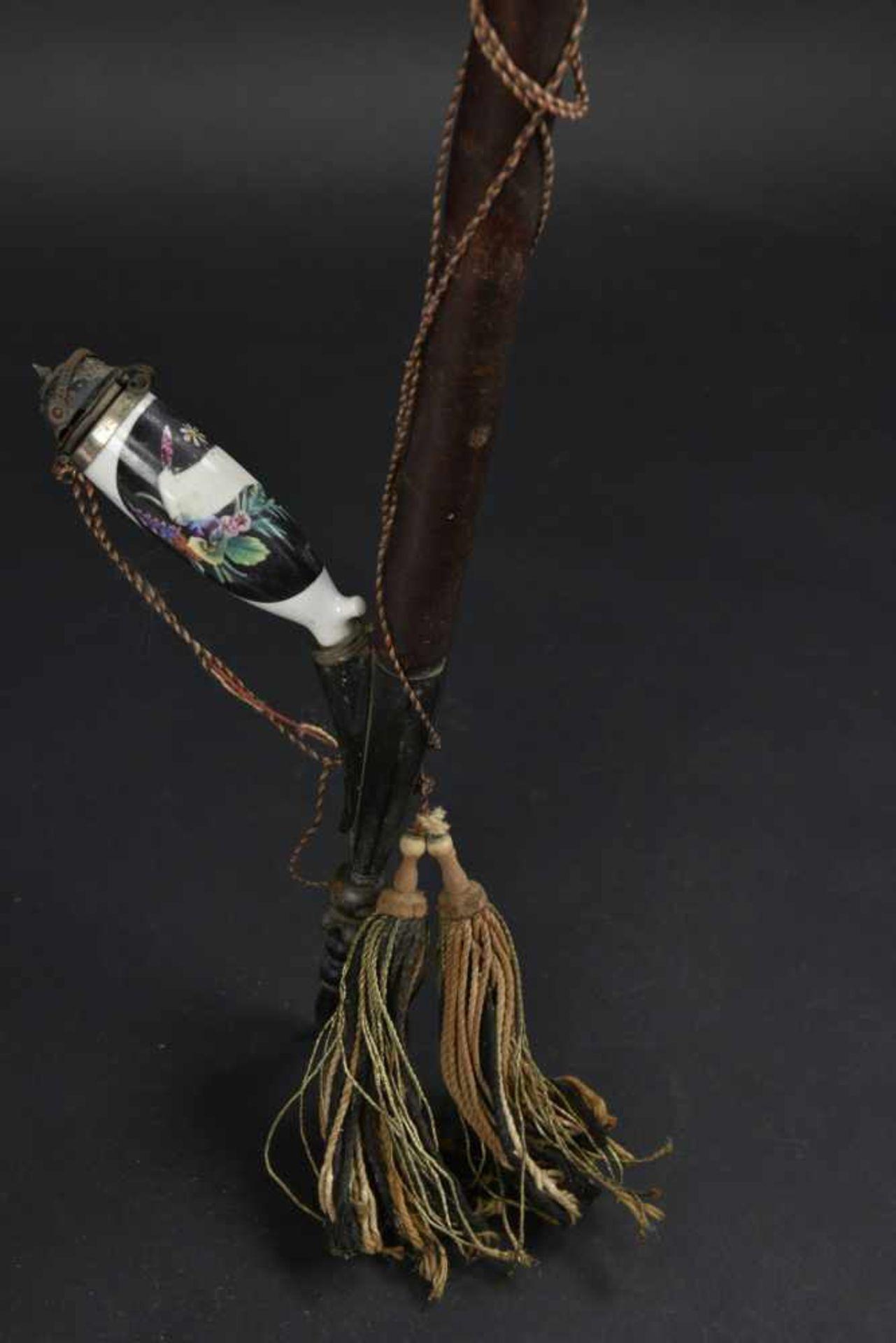Pipe de réserviste En bois et bois de cerf. Très peu décorée. Cartouches neutralisés décorant une - Bild 4 aus 4