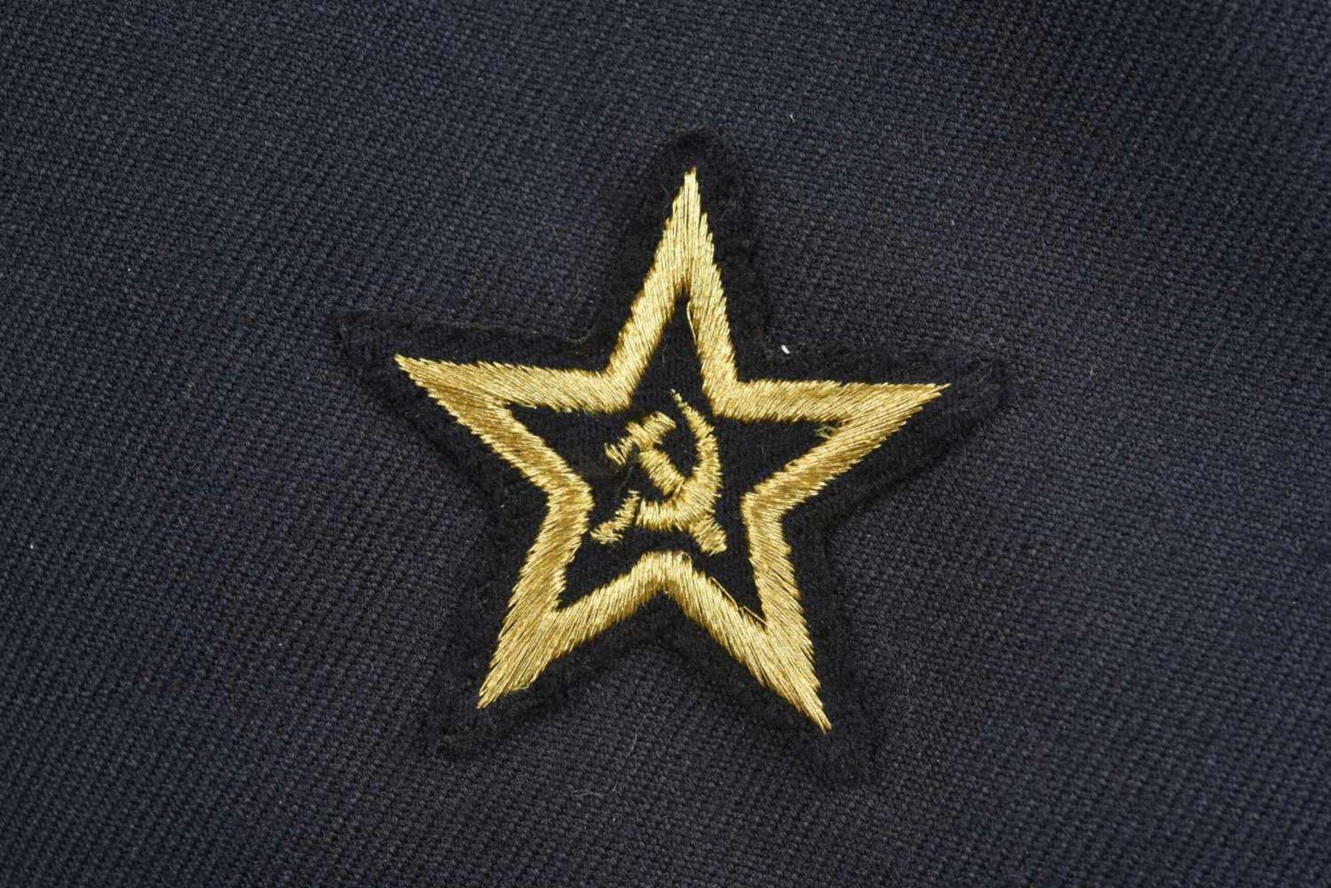 Vareuse de bord de vice-amiral soviétique, année 1990 En tissu bleu, tous les boutons sont présents, - Bild 4 aus 4