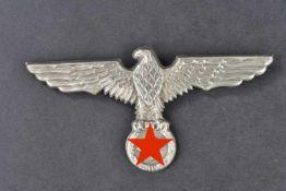 Aigle de casque tropical des fonctionnaires militaires Aigle en métal argenté, toute les attaches