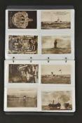 Ensemble de cartes postales de la Kriegsmarine Environ 80 cartes postales représentant divers