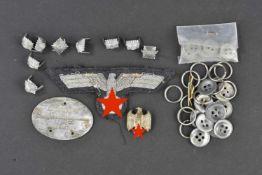 Ensemble d'accessoires d'uniforme des services administratifs de la Kriegsmarine Comprenant un aigle