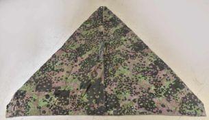 Toile de tente de la Waffen SS numéro 4 Camouflage été et automne, coupon côté été marqué 4.