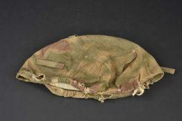 Couvre casque camouflage flou de la Heer En tissu camouflé flou, cordon de serrage présent,