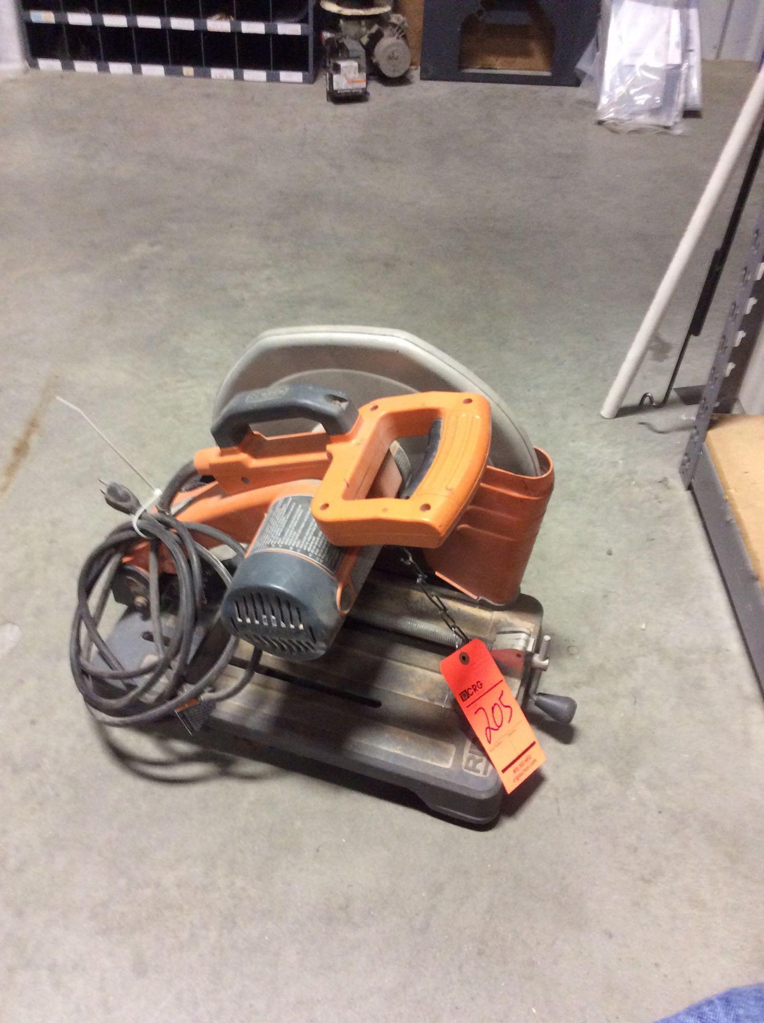 Ridgid 14 Quot Electric Abrasive Cut Off Saw Model Cm14500