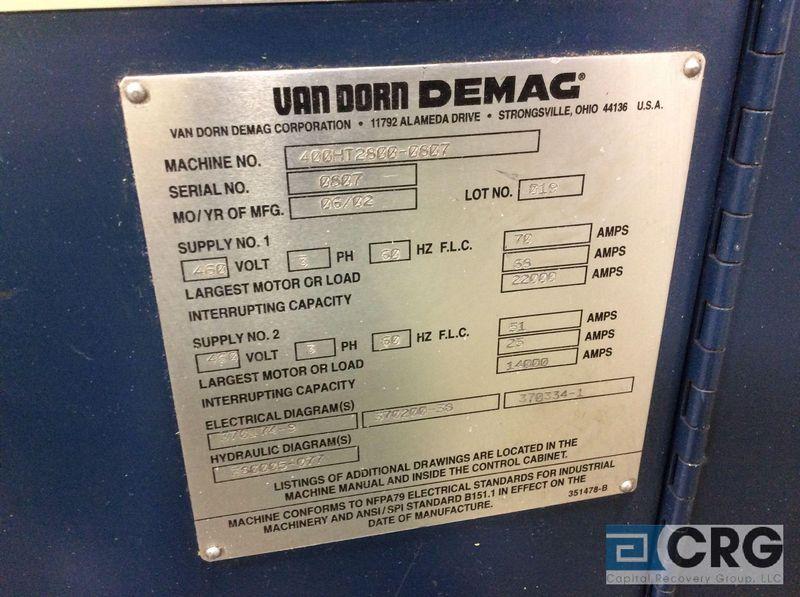 2002 van dorn injection molding machine mn 400ht 2800 sn 0807 400 rh bidspotter com Van Dorn Plastic Van Dorn Street Apartments