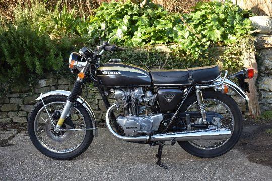 A 1973 Honda CB450 K6 Unregistered Black This Very Original