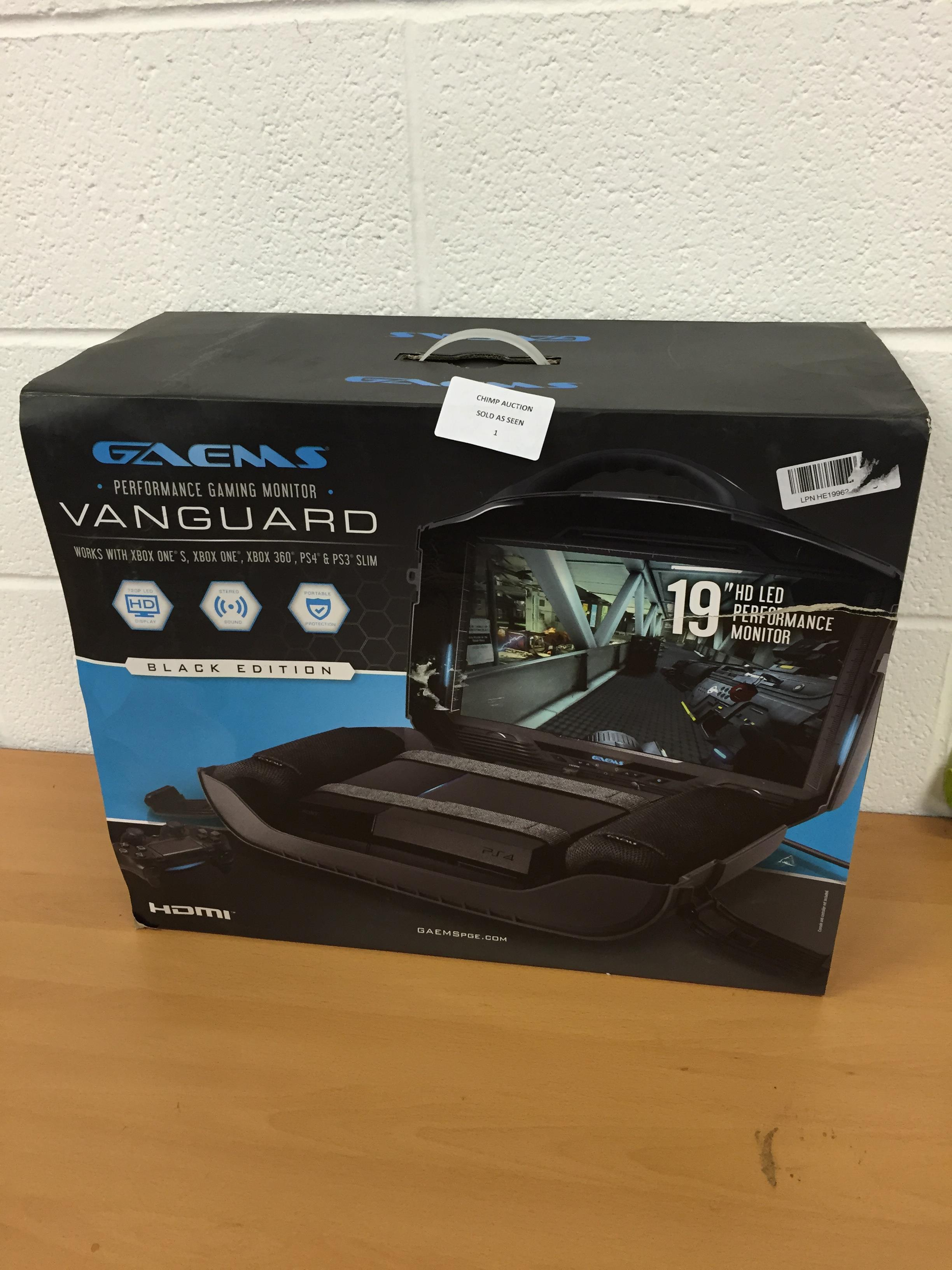 Lot 1 - Gaems Vanguard Personal Gaming Sytem (PS4/ Xbox One) RRP £599.99.