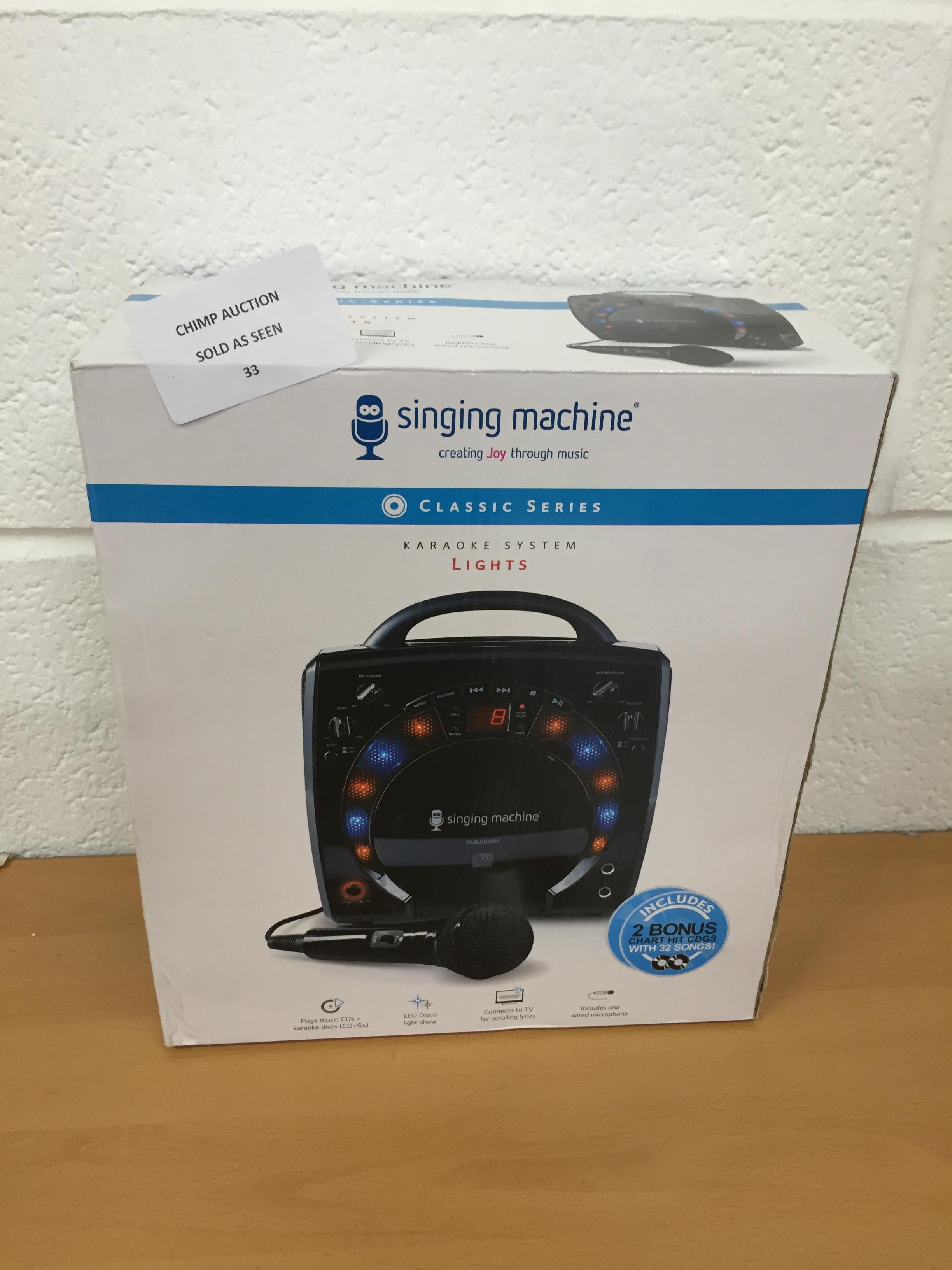Lot 33 - Singing Machine Classic series karaoke system