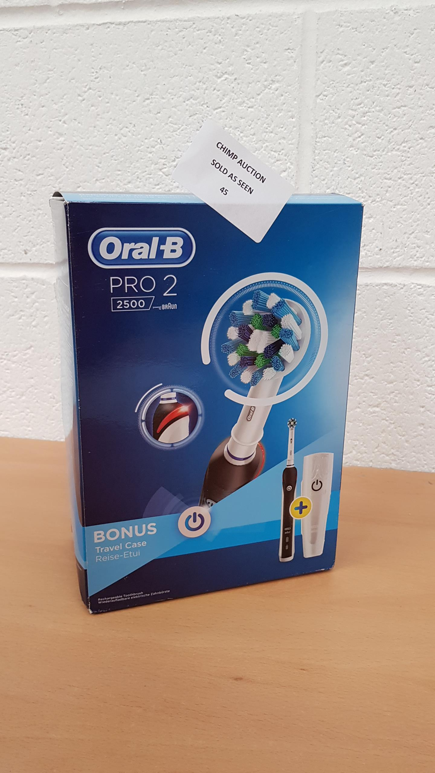 Lot 45 - Oral-B Pro 2 2500 electric toothbrush RRP £79.99. 6f1a818e09c7