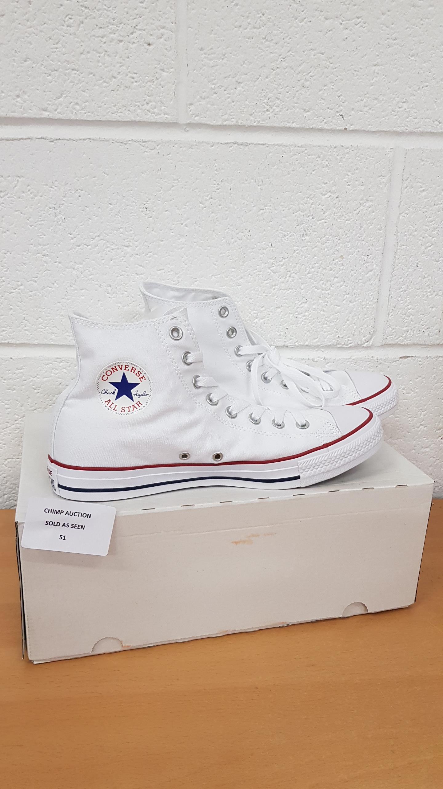 Lot 51 - Converse All stars unisex shoes UK 9