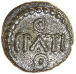 Lot 16 - Epaticcus Boar's Head. c.AD20-40. Celtic silver minim. 8mm. 0.27g.