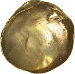 Lot 6 - Selsey Uniface. Sills British Qb, class2b. c.53-45 BC. Celtic gold stater. 16mm. 5.73g.