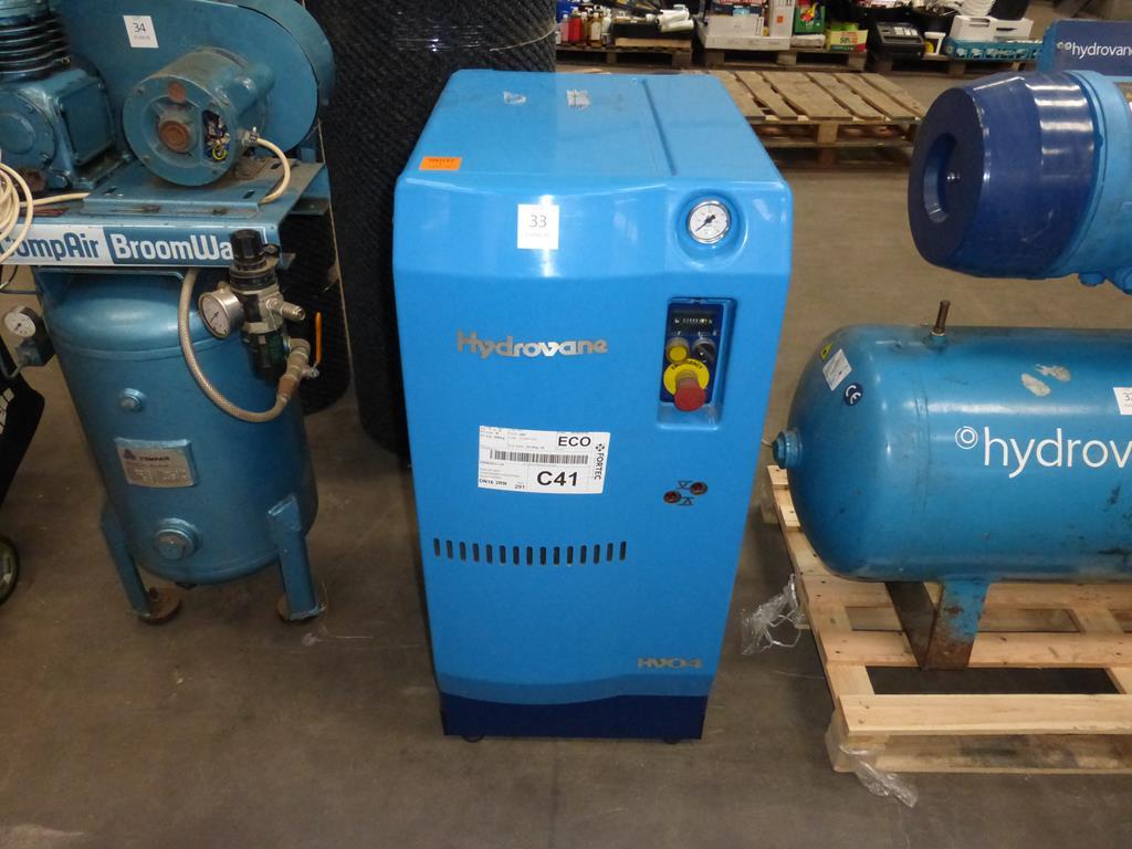 Lot 33 - * Hydrovane HV04 Compressor 4kW 8 Bar 1440RPM 3PH. Please note  there