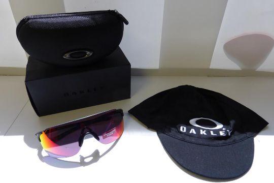 e84e7bd8d0   One pair of Oakley EV Zero Stride Prizm Sunglasses. Frame  Matte Black.  Lens  Prizm Road c w on