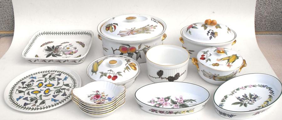 Lot 18 - Two TG Green Cornishware storage jars; a quantity of Royal Worcester Evesham pattern dinner wares;