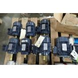 (7) Leeson motors, 3/4 hp to 3 hp. (See photos for additional specs). **Rigging Fee: $25** (Located