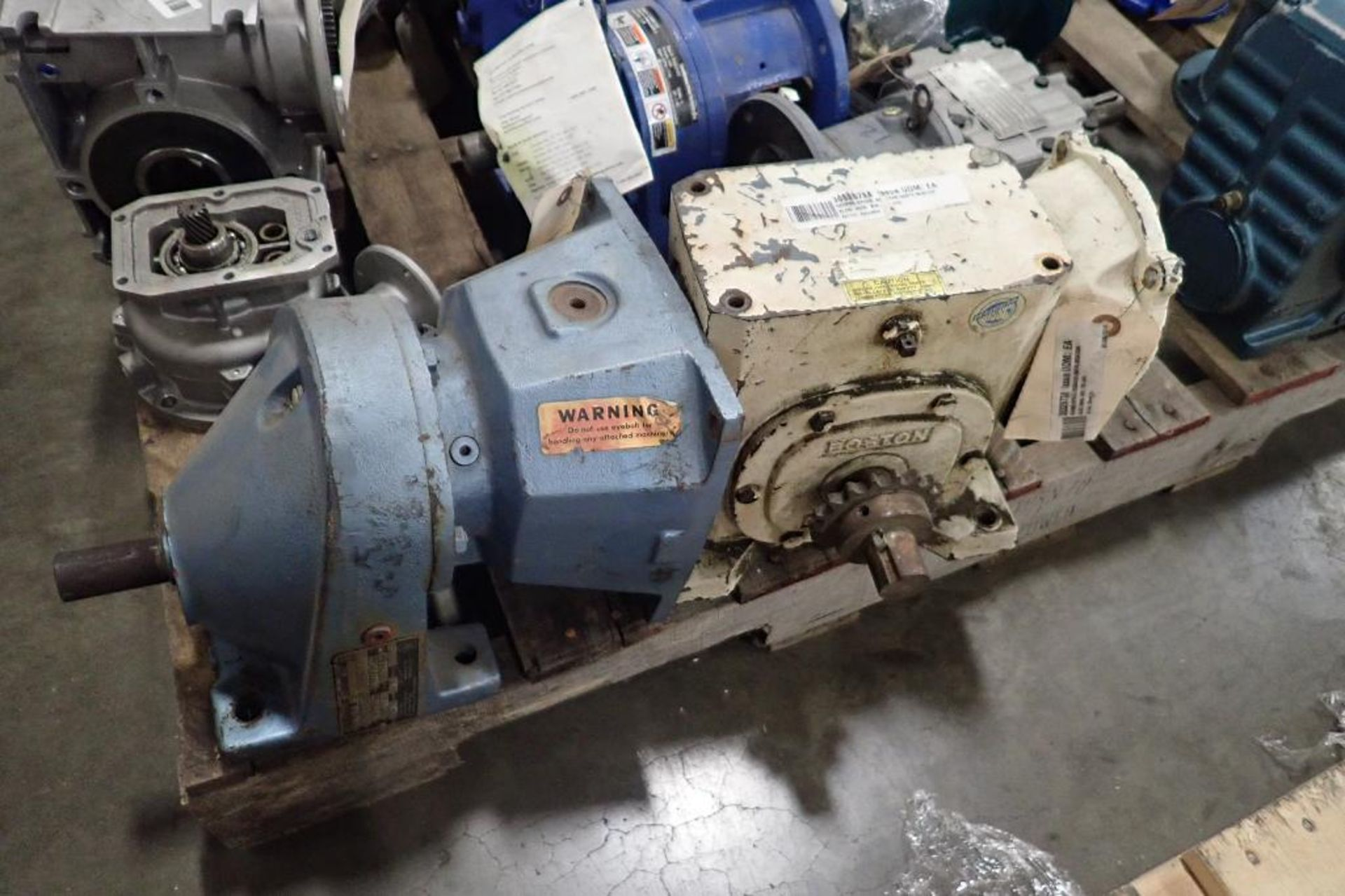 Pallet of assorted gearboxes. (See photos for additional specs). **Rigging Fee: $25** (Located in Ea - Image 23 of 65