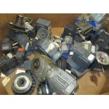 Pallet of assorted electric motors and gearboxes. (See photos for additional specs). **Rigging Fee: