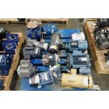Pallet of assorted electric motors. (See photos for additional specs). **Rigging Fee: $35** (Located