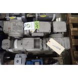 (2) Sew 1 hp electirc motors with gearboxes. (See photos for additional specs). **Rigging Fee: $25**