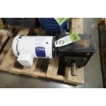 Baldor 2 hp electric motor and gearbox. (See photos for additional specs). **Rigging Fee: $25** (Loc