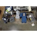 (13) assotred electric motors and gearboxes, 1/4 hp to 3 hp. (See photos for additional specs). **Ri