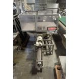 CFE Auger/Feeder, Model DP-30WP, SN 96003, with side agitation, SS hopper, 45 in. long x 58 in. wide