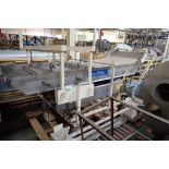 Key iso-flo vibratory conveyor, SS bed 108 in. long x 39 in. wide x 48 in. tall, SS frame, mild stee