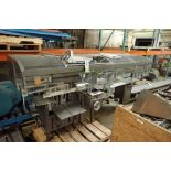 Formost bagger, Model BL5, SN 7271, infeed and discharge conveyor, 24 in. long x 6 in. wide lug infe