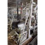 MTC tote dump, Model H-LE-S2, SN 3239, 2000 lb. capacity, with forks, 45 in. wide x 31 in. deep x 41