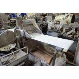Bakery Equipment Service sheeter, Model BES SFA1 700L, SN 052600, 27 in. wide belt, 22 in. wide sift
