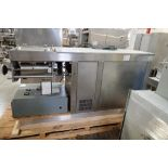 3 roll extruder, 18 in. wide corrugated roll, 18 in. wide bottom roll x 12 in. diameter, Model TRE-1